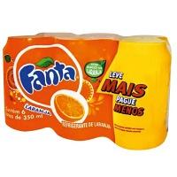 Fanta Laranja lata 350ml. (pacote c 6 unid.)