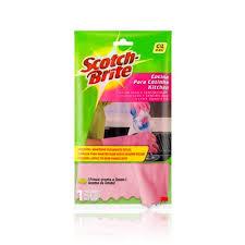 Luvas Scotch Brite p/ tarefas delicadas  tamanho médio (rosa)