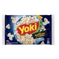 Pipoca de micro ondas sabor manteiga de cinema Yoki 100g