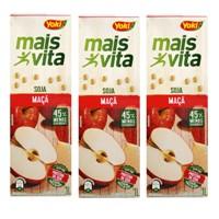 Bebida a base de soja sabor maçã Mais Vita Yoki 1lt. (pacote c/3 unid.)