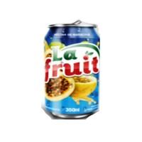 Suco pronto de maracujá lata La Fruit 350ml