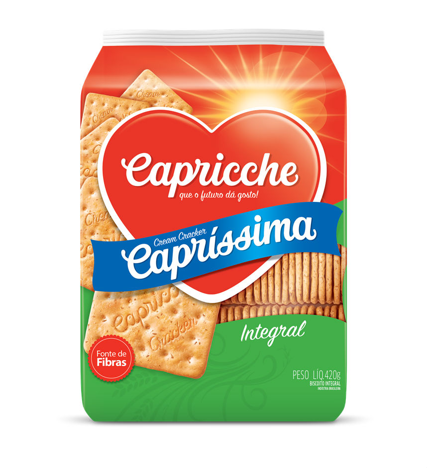 Biscoito cream cracker integral Capriche 400g