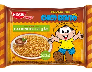 Macarrão instantâneo caldinho de feijão Chico Bento Nissin 85g