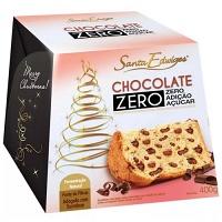 Panettone gotas de chocolate zero adição de açúcar Santa Edwiges 400g