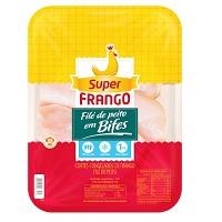 Filé de peito frango em bifes Super Frango 1kg