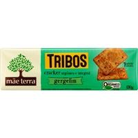 Biscoito cracker integral orgânico com gergelim 7 grãos TrIbos Mãe Terra 130g