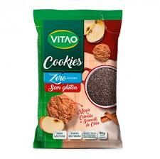 Cookies de maçã, chia e canela zero açúcares e zero glúten Vitao 80g