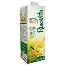 Bebida de arroz líquida sabor baunilha Risovita 1lt