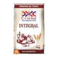 Farinha de trigo integral Cristal