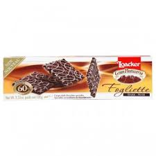 Wafer crocante coberto com chocolate Fogliette Toacker 100g