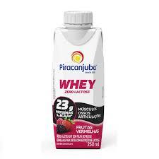 Leite desnatado whey sabor frutas vermelhas zero lactose Piracanjuba 250ml