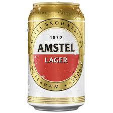 Cerveja lager Amstel lata 350ml