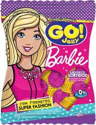 Bala gelatina Barbie Go Jelly 80g
