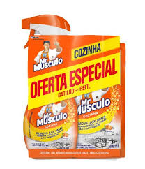 kit Mr Musculo 1 desengor c/ gat + refil sachê 400ml