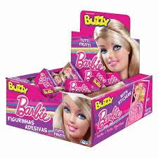 Chiclete sabor tutti frutti da Barbie tatuagens Buzzi