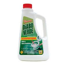 Desentupidor líquido de ralos e vaso sanitários Diabo Verde 1lt