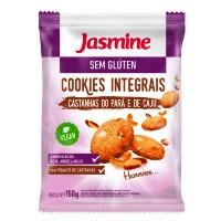 Cookies integrais sem glúten castanha do Pará e caju Jasmine 150g