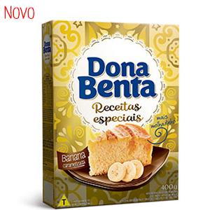 Mistura para bolo receitas especiais sabor banana caramelizada Dona Benta 400g