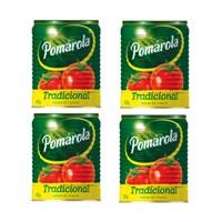 Molho de tomate tradicional Pomarola lata 340g. (pacote c/ 4 unidades)