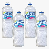 Detergente líquido clear Proeza 500ml (pacote c/ 4 unidades)