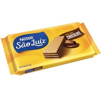 Biscoito wafer chocolate São Luiz Nestlé 110g