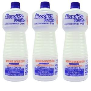 Álcool multiuso 70° 1L (3 unidades)