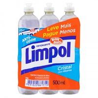 Detergente líquido cristal Limpol 500ml (pacote c/ 6 unid.)