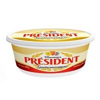 Manteiga extra sem sal Président pote 200g.
