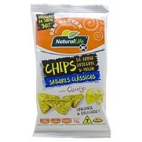 Chips de arroz integral e milho queijo sem glúten Natural Life 70g