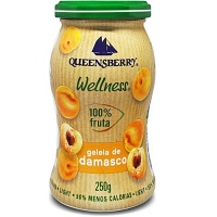 Geléia de damasco 100% fruta Wellness Queensberry 250g