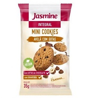 Mini cookies integrais avelã com gotas de chocolate Jasmine 35g