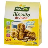 Biscoito de aveia sabor leite com banana Natural Life 69g