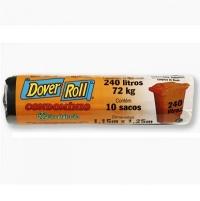 Saco para lixo reforçado Dover Roll 200L