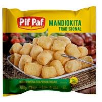 Mandiokita tradicional temperada e congelada Pif Paf 300g