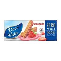 Biscoito wafer morango zero açucar Doce Vida 115g