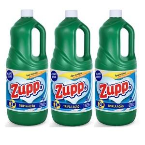 Água sanitária Zupp 2lts (pacote c/ 3 unid.)