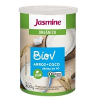 Bebida de arroz orgânico e coco em pó BioV Jasmine 300g
