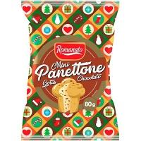 Mini panettone gotas de chocolate  Romanato 80g
