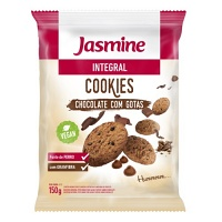 Cookies integrais chocolate com gotas jasmine 150g