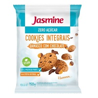 Cookies zero açucar damasco e chocolate Jasmine 150g