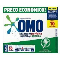 Sabão em pó Omo lavagem perfeita Sanitiza & Higieniza 800g