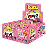 Chiclete love mensagens inspiradoras Buzzy caixa com 100 unidades