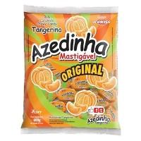 Bala mastigável azedinha original sabor tangerina pacote com 120 unidades