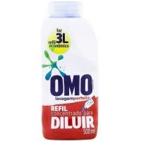 Lava roupas liquido concentrado Lavagem Perfeita Omo refil  500ml