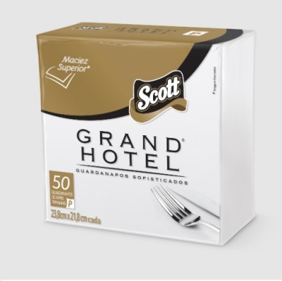Guardanapo de papel pequeno folha dupla Grand Hotel Scott 23,8x21,8cm