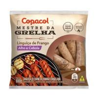 Linguiça de frango com alho e cebola congelada Copacol 600g