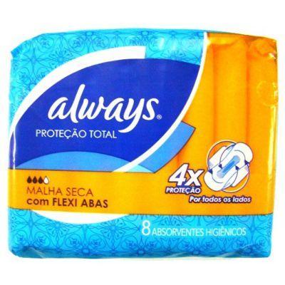 Absorvente Always suave super proteção com abas 8x1