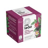 Chá hibísco, rosa silvestre e amora Leão 16g