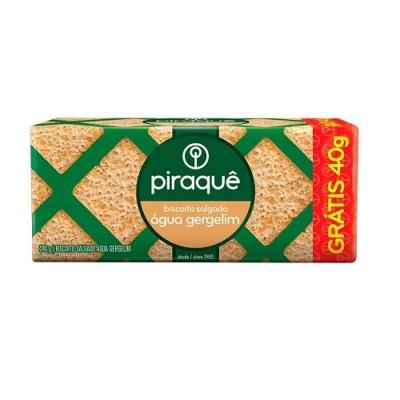 Biscoito água e gergelim Piraquê 240g.