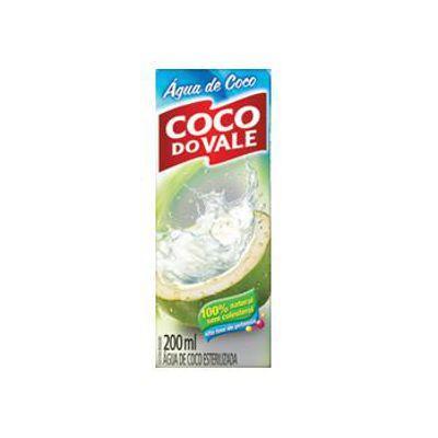 Água de coco Coco Do Vale 200ml.